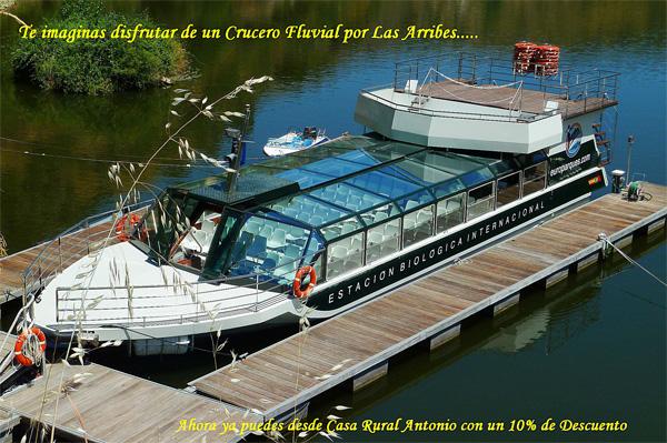 Alojate en Casa Rural Antonio en Salamanca y te beneficiarás del 10 por ciento de descuento en el Crucero Fluvial por las Arribes del Duero.