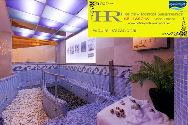 Rejuvenece y disfruta del Circuito termal en Aquatherapia Spa Center Salamanca y para dormir en apartamento la rana de salamanca.